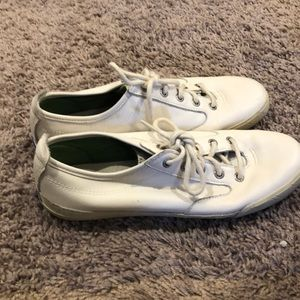 White leather keds